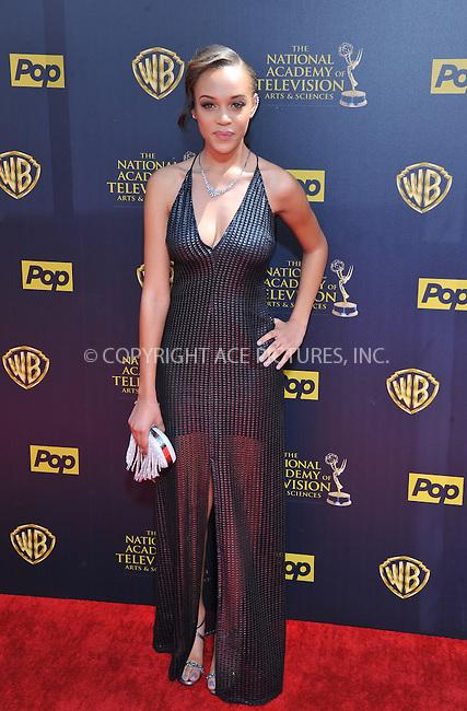 WWW.ACEPIXS.COM<br /> <br /> April 26 2015, LA<br /> <br /> Reign Edwards arriving at The 42nd Annual Daytime Emmy Awards at Warner Bros. Studios on April 26, 2015 in Burbank, California.<br /> <br /> By Line: Peter West/ACE Pictures<br /> <br /> <br /> ACE Pictures, Inc.<br /> tel: 646 769 0430<br /> Email: info@acepixs.com<br /> www.acepixs.com