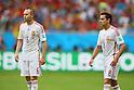 (L to R) <br /> Andres Iniesta, <br /> Xavi Hernandez (ESP), <br /> JUNE 13, 2014 - Football /Soccer : <br /> 2014 FIFA World Cup Brazil <br /> Group Match -Group B- <br /> between Spain 1-5 Netherlands <br /> at Arena Fonte Nova, Salvador, Brazil. <br /> (Photo by YUTAKA/AFLO SPORT) [1040]