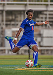 5 September 2014: University of Massachusetts River Hawks Midfielder/Forward Wuilito Fernandes, a Sophomore from Praia, Cape Verde, in action against the St. Francis College Terriers at Virtue Field in Burlington, Vermont. The River Hawks defeated the Terriers 3-1, on their way to finishing the Morgan Stanley Smith Barney Windjammer Classic Men's Soccer Tournament with a 2-0 record, and being crowned as tournament champions on goal differential. Mandatory Credit: Ed Wolfstein Photo *** RAW (NEF) Image File Available ***