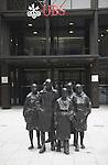 George Segal 'Rush Hour' sculpture , UBS building, Broadgate, London, England