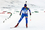 ITA Veronica Bessone competes during the 20 km Individual Biathlon race as part of the Winter Universiade Trentino 2013 on 13/12/2013 in Lago Di Tesero, Italy.<br /> <br /> &copy; Pierre Teyssot - www.pierreteyssot.com
