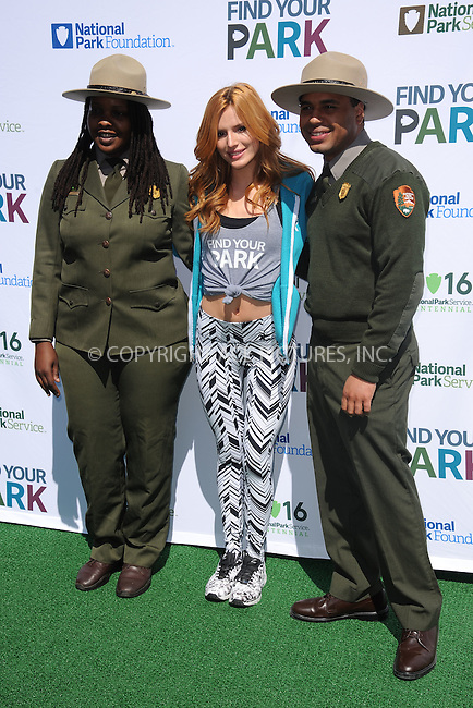 WWW.ACEPIXS.COM<br /> April 2, 2015 New York City<br /> <br /> Bella Thorne attending National Park Service kick off of the #FindYourPark public service campaign in honor of the milestone centennial anniversary of the National Park Service in 2016 on April 2, 2015 in New York City. <br /> <br /> By Line: Kristin Callahan/ACE Pictures<br /> ACE Pictures, Inc.<br /> tel: 646 769 0430<br /> Email: info@acepixs.com<br /> www.acepixs.com