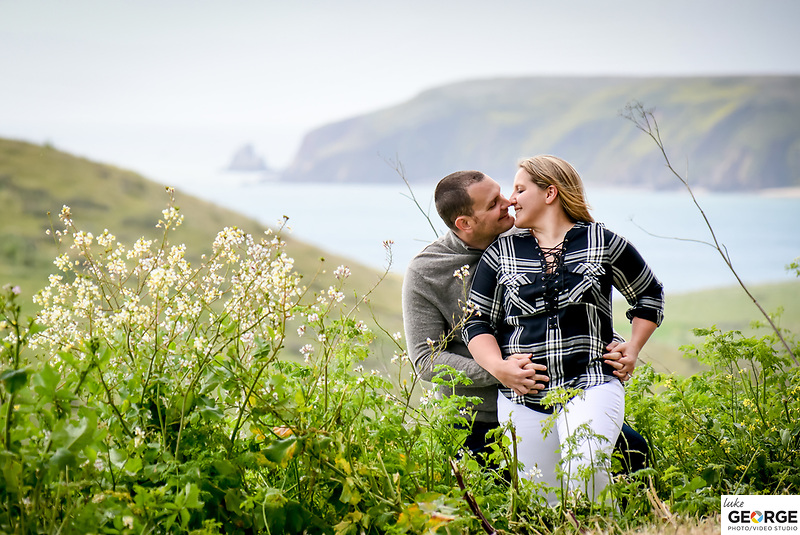 Shawna and Kevin's Engagement session on the California Coast at Point Reyes and the historic lighthouse.