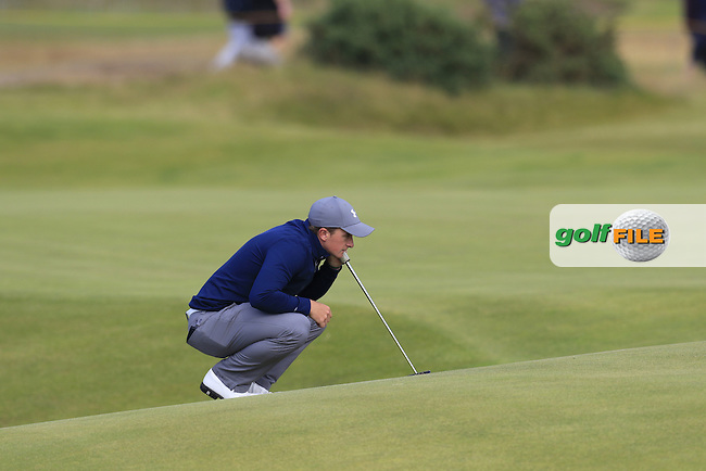 Paul DUNNE (AM)(IRL) at the 13th green during Sunday's Round 3 of the 144th Open Championship, St Andrews Old Course, St Andrews, Fife, Scotland. 19/07/2015.<br /> Picture Eoin Clarke, www.golffile.ie