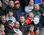 Craig Whyte masks in the Aberdeen end