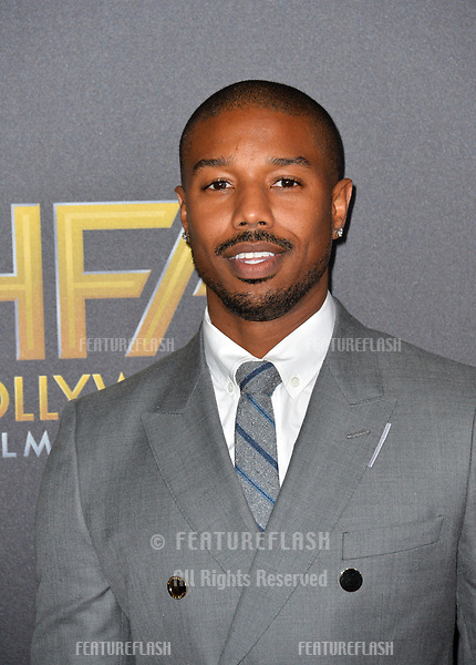 LOS ANGELES, CA. November 04, 2018: Michael B. Jordan at the 22nd Annual Hollywood Film Awards at the Beverly Hilton Hotel.<br /> Picture: Paul Smith/Featureflash
