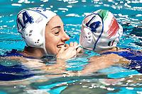 Italian players help each other to wear the caps before the training . Giulia Emmolo, Chiara Avegno <br /> Trieste 14/01/2019 Centro Federale B. Bianchi <br /> Women's FINA Europa Cup 2019 water polo<br /> Italy ITA - Nederland NED <br /> Foto Andrea Staccioli/Deepbluemedia/Insidefoto