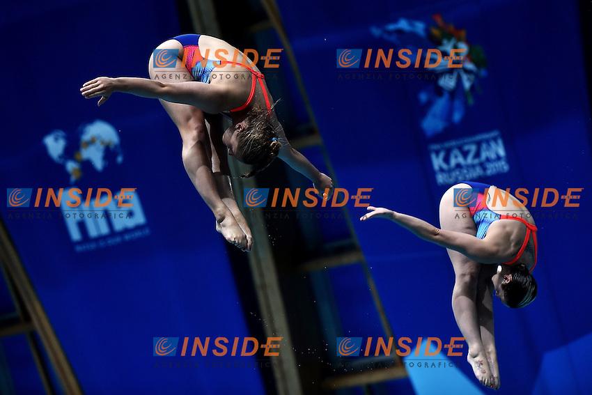 PUNZEL Tina, SUBSCHINSKI Nora GER <br /> Day2 25/07/2015 Aquatics Palace <br /> Diving / Tuffi Women's 3m Synchro Springboard - Trampolino Sincronizzato 3m Donne FINAL / FINALE <br /> XVI FINA World Championships Aquatics  <br /> Kazan Tatarstan RUS <br /> Photo Andrea Staccioli/Deepbluemedia/Insidefoto