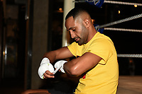 Kid Galahad during a Media Workout at 12x3 Gym on 8th January 2020