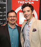 "Jesse Berger and Michael Urie attends ""The Government Inspector"" Opening Night Party at West Bank Cafe on June 1, 2017 in New York City."