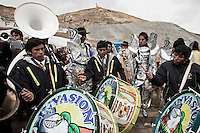 A picture dated Saturday January 26, 2013 shows a music band at the Miners Carnival in the Andes city of Potosi in Bolivia. Already in 1663 the Spanish chronicler Marquez Jerez de los Caballeros described the colorful  miners carnival in Potosi. Four centuries later, the tradition of the legendary Cerro Rico miners is  still alive ..