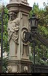 Gatepost and Lantern Dragon detail Palazzo Barberini GianLorenzo Bernini 1633 Via delle Quattro Fontane Rome