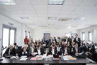 L'Aquila. la seconda udienza del processo alla commissione grandi rischi. 1°ottobre 2011. Gli avvocati difensori della Commissione Grandi Rischi.