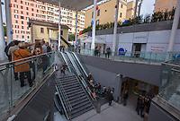 Una veduta del nuovo centro commerciale Happio nel quartiere di San Giovanni, in occasione della sua inaugurazione, a Roma, 26 marzo 2015.<br /> A view of the new commercial center Happio in Rome, 26 March 2015.<br /> UPDATE IMAGES PRESS/Riccardo De Luca