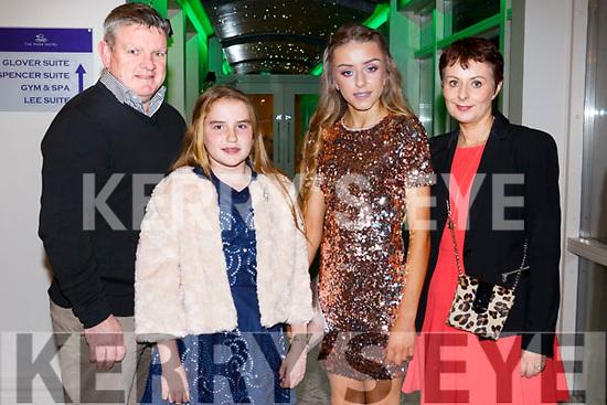Michael Barrett, Aoife Barrett, Sarah Barrett and Siobhan Barrettat the Kerry Ladies Gaelic Football Association Awards in The Rose Hotel on Saturday night.
