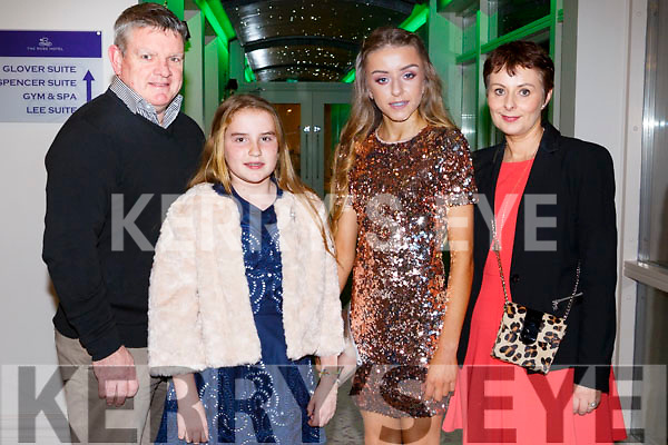 Michael Barrett, Aoife Barrett, Sarah Barrett and Siobhan Barrettat the Kerry Ladies Gaelic Football Association Awards in The Rose Hotel on Saturday night.