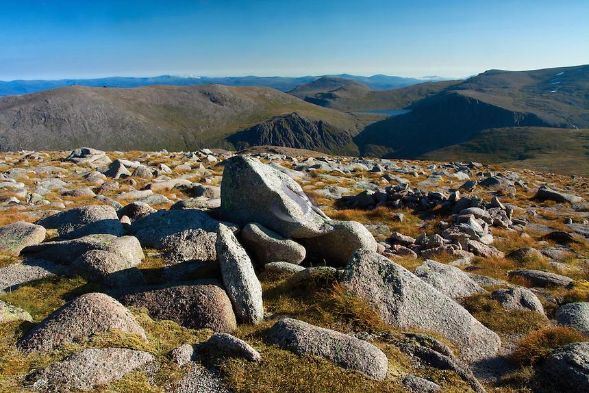 Beinn Mheadhoin from Cairn Gorm, Cairngorm National Park, Badenoch & Speyside