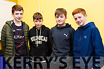 Representing Laune Rangers at Scor na nÓg Kerry County Quiz finals in the Austin Stack Park Pavilion, Tralee on Thursday evening last, l-r, Ronan O'Shea, Killian Spillane,Hugh Fitzpatrick and Owen Joy.