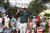Adam Scott (AUS) lines up his putt on the 17th hole during the third round of the 100th PGA Championship at Bellerive Country Club, St. Louis, Missouri, USA. 8/11/2018.<br /> Picture: Golffile.ie | Brian Spurlock<br /> <br /> All photo usage must carry mandatory copyright credit (&copy; Golffile | Brian Spurlock)