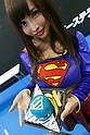 A booth assistant shows a Superman burger during the Tokyo Comic Con 2017 at Makuhari Messe International Exhibition Hall on December 1, 2017, Tokyo, Japan. This is the second year that San Diego Comic-Con International held the event in Japan. Tokyo Comic Con runs from December 1 to 3. (Photo by Rodrigo Reyes Marin/AFLO)