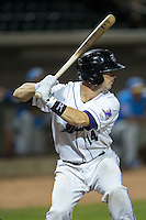 Chris O'Dowd (14) of the Winston-Salem Dash at bat against the Myrtle Beach Pelicans at BB&T Ballpark on April 19, 2016 in Winston-Salem, North Carolina.  The Dash defeated the Pelicans 6-5.  (Brian Westerholt/Four Seam Images)