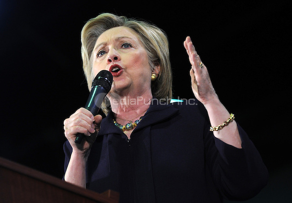 BLACKWOOD, NJ - MAY 11: Democratic presidential candidate Hillary Clinton speaks at a campaign event at Camden County College on May 11, 2016 in Blackwood, New Jersey. Credit: Dennis Van Tine/MediaPunch