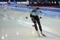 SCHAATSEN: HEERENVEEN: IJsstadion Thialf, 16-11-2012, Essent ISU World Cup, Season 2012-2013, Men 5000 meter Division B, Dmitry Babenko (KAZ), ©foto Martin de Jong