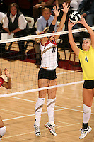 27 October 2005: Erin Waller during Stanford's 3-0 win over Oregon at Maples Pavilion in Stanford, CA.