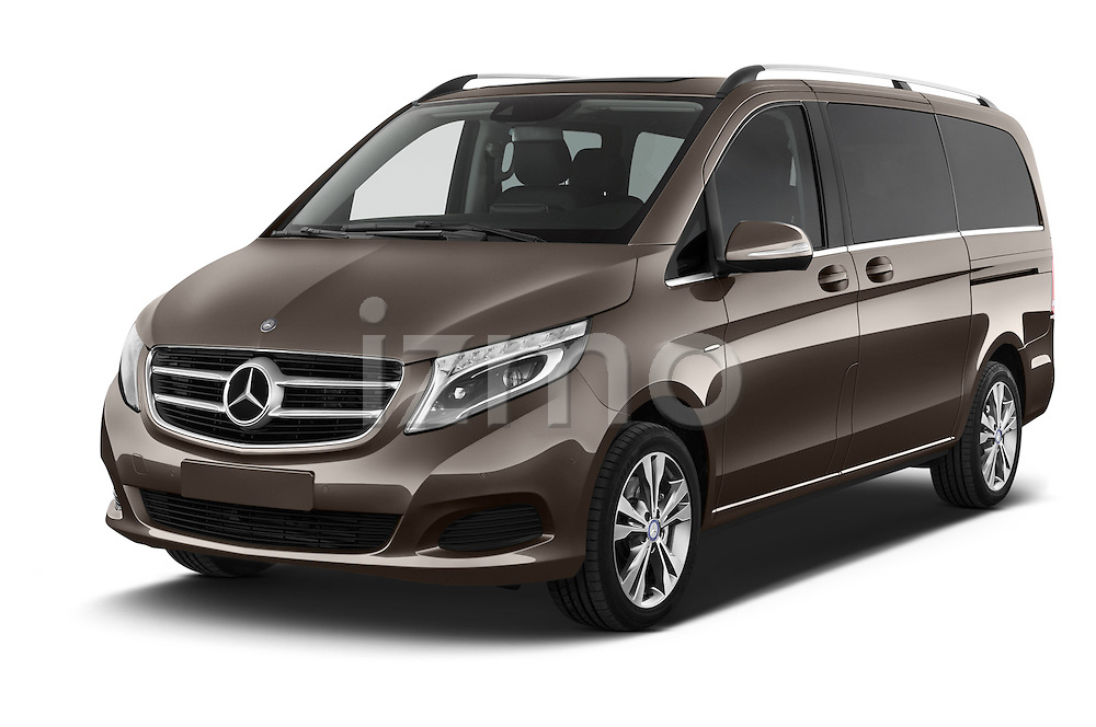 2015 Mercedes Benz V-CLASS AVANTGARDE 5 Door Minivan 2WD Angular Front stock photos of front three quarter view