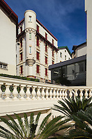 France, Aquitaine, Pyrénées-Atlantiques, Pays Basque, Biarritz:  Maisons rue des Goelands,   Quartier du plateau de l'Atalaye //  France, Pyrenees Atlantiques, Basque Country, Biarritz:  Mansion, Goeland street , Plateau de l'Atalaye district