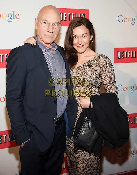 WASHINGTON, DC - MAY 2: Patrick Stewart and Sunny Ozell attending the Google and Netflix party to celebrate White House Correspondents' Dinner on May 2, 2014 in Washington, DC.  <br /> CAP/MPI/RTNMelvin<br /> &copy;RTNMelvin/MediaPunch/Capital Pictures