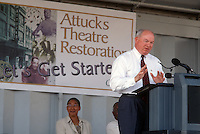 2001 August 28..Rehabilitation..Attucks Theatre.Church Street..RENOVATION GROUNDBREAKING CEREMONY.PAUL FRAIM...NEG#.NRHA#..