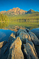 Pyramid Mountain and Pyramid Lake<br />Jasper National PArk<br />Alberta<br />Canada