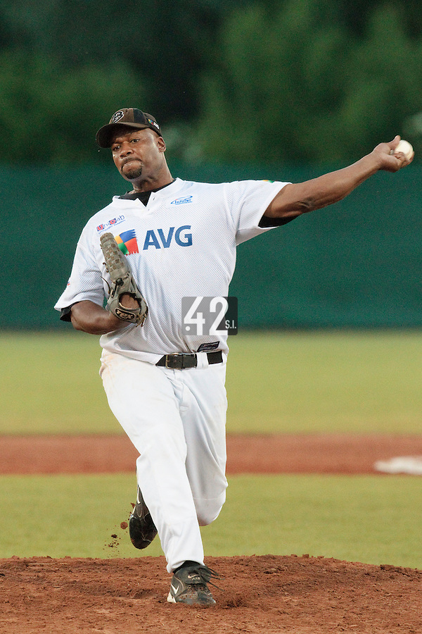 06 June 2010: Gregory MacCarthy of AVG Draci Brno pitches against Rouen during the 2010 Baseball European Cup match won 10-8 by the Rouen Huskies over AVG Draci Brno, at the AVG Arena, in Brno, Czech Republic.