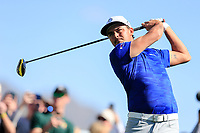 Rickie Fowler (USA) on the 3rd tee during the 2nd round of the Waste Management Phoenix Open, TPC Scottsdale, Scottsdale, Arisona, USA. 01/02/2019.<br /> Picture Fran Caffrey / Golffile.ie<br /> <br /> All photo usage must carry mandatory copyright credit (© Golffile | Fran Caffrey)