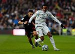 Real Madrid CF's Eder Militao   during the Spanish La Liga match round 20 between Real Madrid and Granada CF at Santiago Bernabeu Stadium in Madrid, Spain