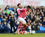 Tottenham's Mousa Dembele tussles with Bournemouth's Joshua King during the Premier League match at White Hart Lane Stadium.  Photo credit should read: David Klein/Sportimage