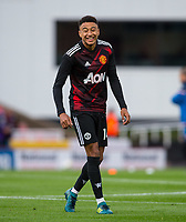 Jesse Lingard of Man Utd looks relaxed during pre match warm ups during the Premier League match between Stoke City and Manchester United at the Britannia Stadium, Stoke-on-Trent, England on 9 September 2017. Photo by Andy Rowland.