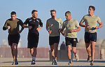 GARY BARLOW<br /> goes on a five kilometre run with British troops at Camp Bastion, Afghanistan.Singer-songwriter Barlow, spent three days with sailors, soldiers and airmen, experiencing life on the base while filming a musical concert for broadcast later this year_31/10/2013<br /> Mandatory Credit Photo: &copy;Dan Bardsley/NEWSPIX INTERNATIONAL<br /> <br /> **ALL FEES PAYABLE TO: &quot;NEWSPIX INTERNATIONAL&quot;**<br /> <br /> IMMEDIATE CONFIRMATION OF USAGE REQUIRED:<br /> Newspix International, 31 Chinnery Hill, Bishop's Stortford, ENGLAND CM23 3PS<br /> Tel:+441279 324672  ; Fax: +441279656877<br /> Mobile:  07775681153<br /> e-mail: info@newspixinternational.co.uk