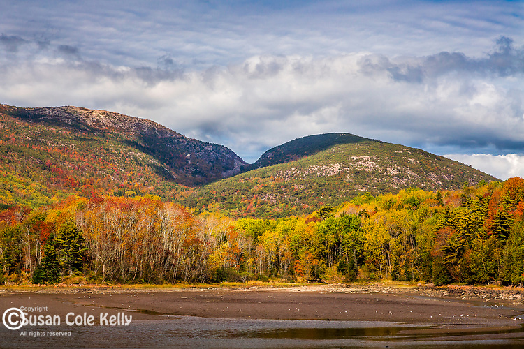 Cadillac and Dorr Mountains in Acadia National Park, Maine, USA