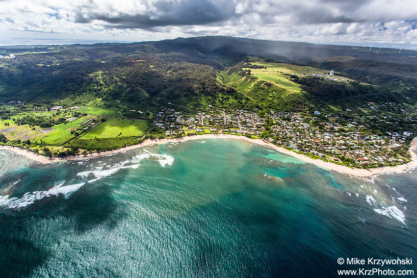 Aerial view of Oahu's North Shore