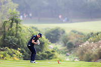 Matt Wallace (ENG) playing his 3rd on the 2nd during the 2nd round at the WGC HSBC Champions 2018, Sheshan Golf CLub, Shanghai, China. 26/10/2018.<br /> Picture Fran Caffrey / Golffile.ie<br /> <br /> All photo usage must carry mandatory copyright credit (&copy; Golffile | Fran Caffrey)