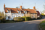 Cottages in Blaxhall village, Suffolk, England, UK