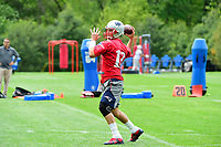 June 7, 2017: New England Patriots quarterback Tom Brady (12) throws a pass  at the New England Patriots mini camp held on the practice field at Gillette Stadium, in Foxborough, Massachusetts. Eric Canha/CSM