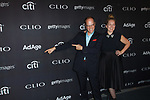 Josh Golden and Heidi Waldusky arrive at the 2017 Clio Awards in The Tent at Lincoln Center in New York City on September 27, 2017.