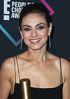 SANTA MONICA - NOVEMBER 11:  Mila Kunis at the People's Choice Awards 2018 at The Barker Hangar on November 11, 2018 in Santa Monica, California. (Photo by Xavier Collin/PictureGroup)