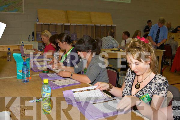 Killarney UDC election count in the Aras Padraig Killarney on Saturday.