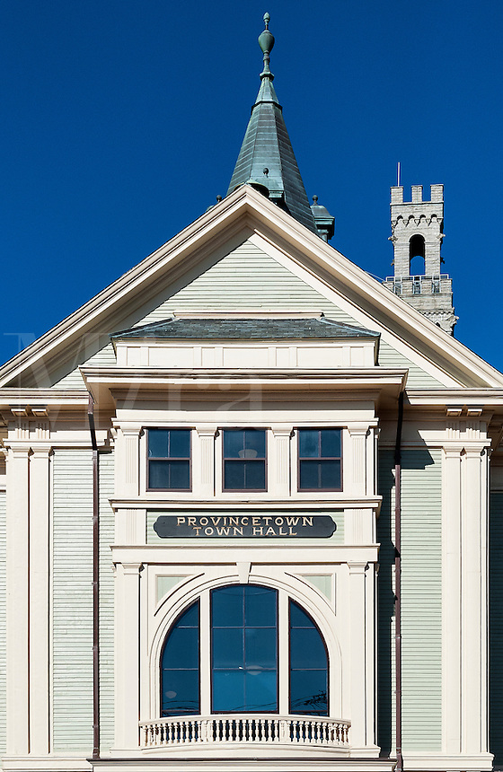 Exterior of Town Hall,  Provincetown, Cape Cod, Massachusetts, USA