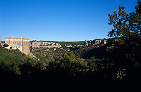 The chateau overlooks the dramatic Ardeche river valley