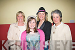 Cat Walk: Enjoying the fashion show in aid of Kerry hospice,palative care unit,KGH,Tralee at St Brendan's youth club hall,Ballymac last Friday night were L-R Ann&Megan Jones(Tonevane)Teresa O'Brien(Tonevane)and Sylvia Thompson(Ballymac).
